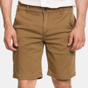 Helix Brown Cotton Denim Men's Shorts 32